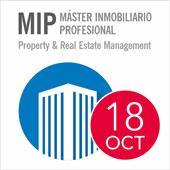 """MIP - MÁSTER INMOBILIARIO """"Asset, Property & Real Estate Management"""". Título propio de la Universidad Francisco de Vitoria. Inicio 18 de octubre."""